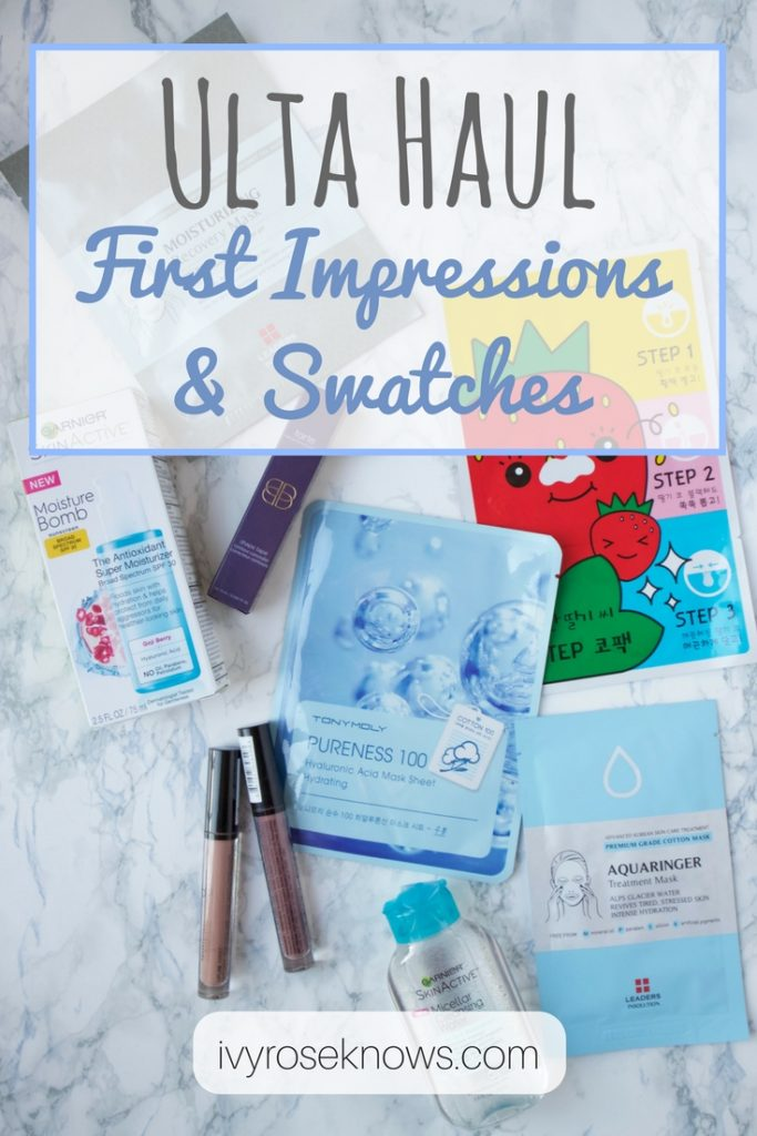Ulta Haul First Impressions and Swatches