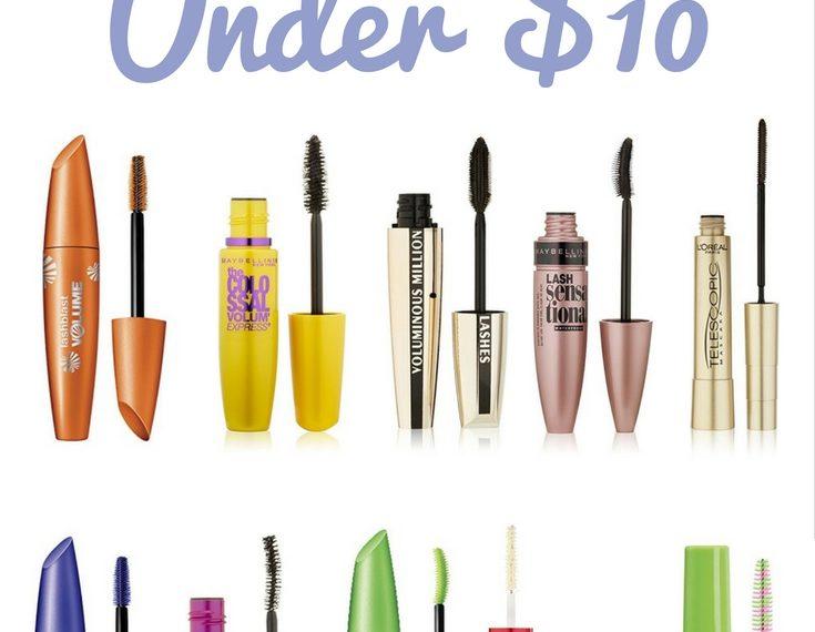 Top 10 Mascaras Under $10