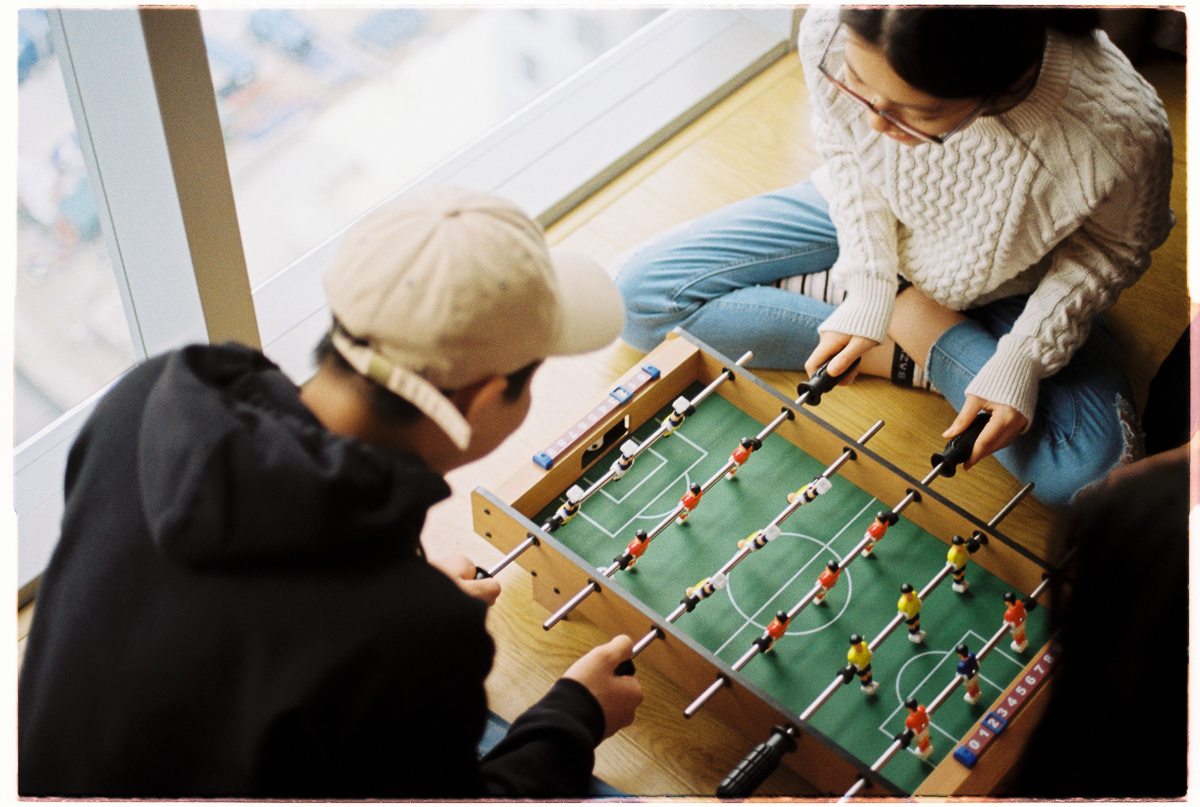 Couple playing a game.
