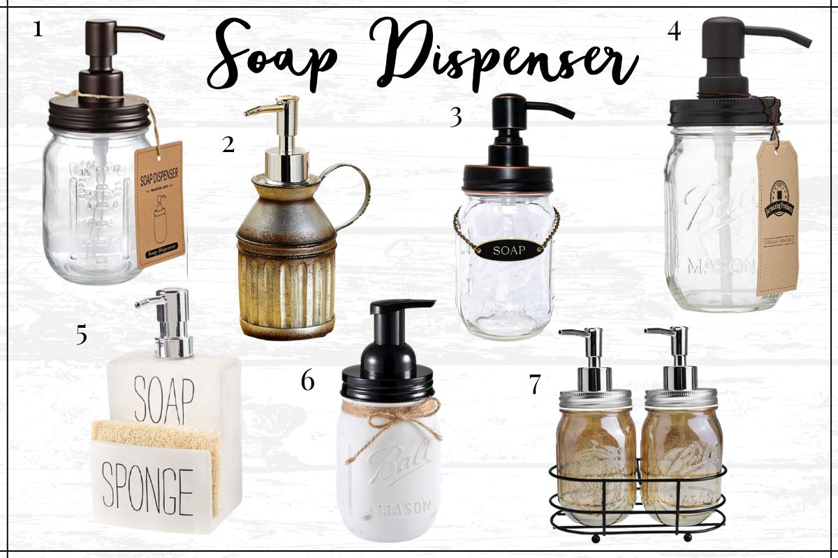 Farmhouse kitchen decor finds - farmhouse soap dispensers